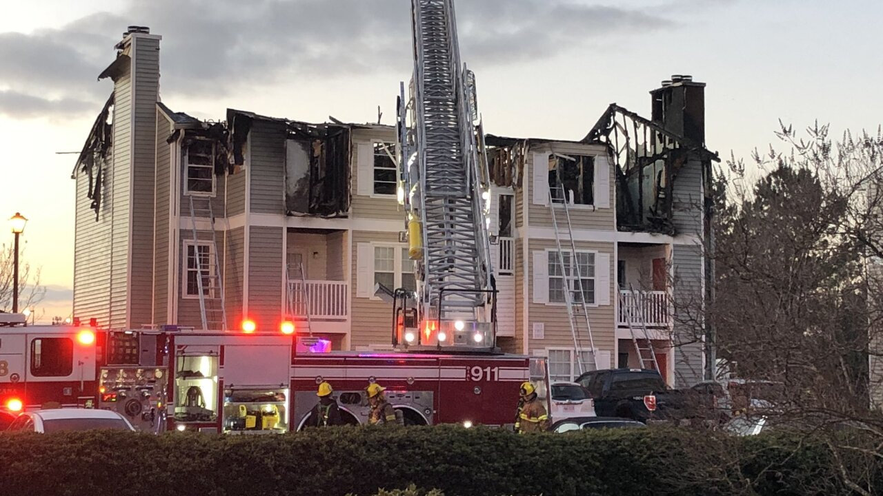 14 people displaced, 1 firefighter and 2 others injured in Virginia Beach condofire