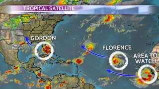 More rain for the Coastal Bend, Gordon heads for MS/AL coast