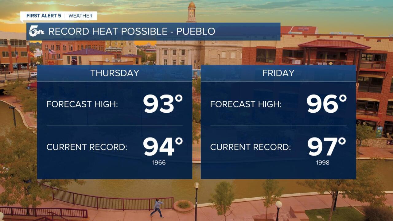 Record heat possible for Pueblo
