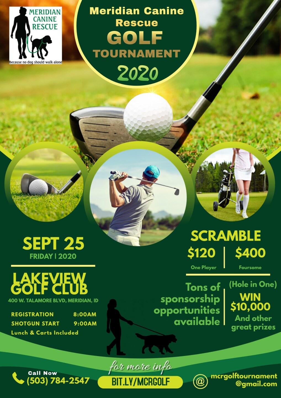 MCR golf tournament flyer