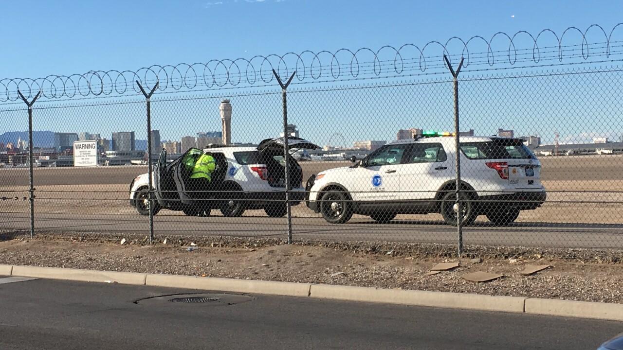 Las Vegas Police: Beer thief climbs airport fence, runs across active runway