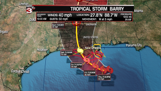 Tropical Storm Barry 7-11