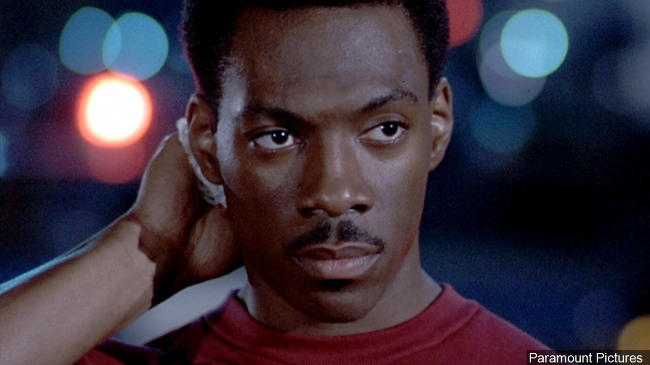 Eddie Murphy in a scene from 'Beverly Hills Cop' film