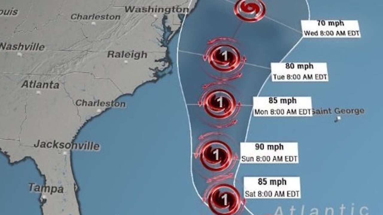 Jose, back to hurricane, may hit northeastern US next week