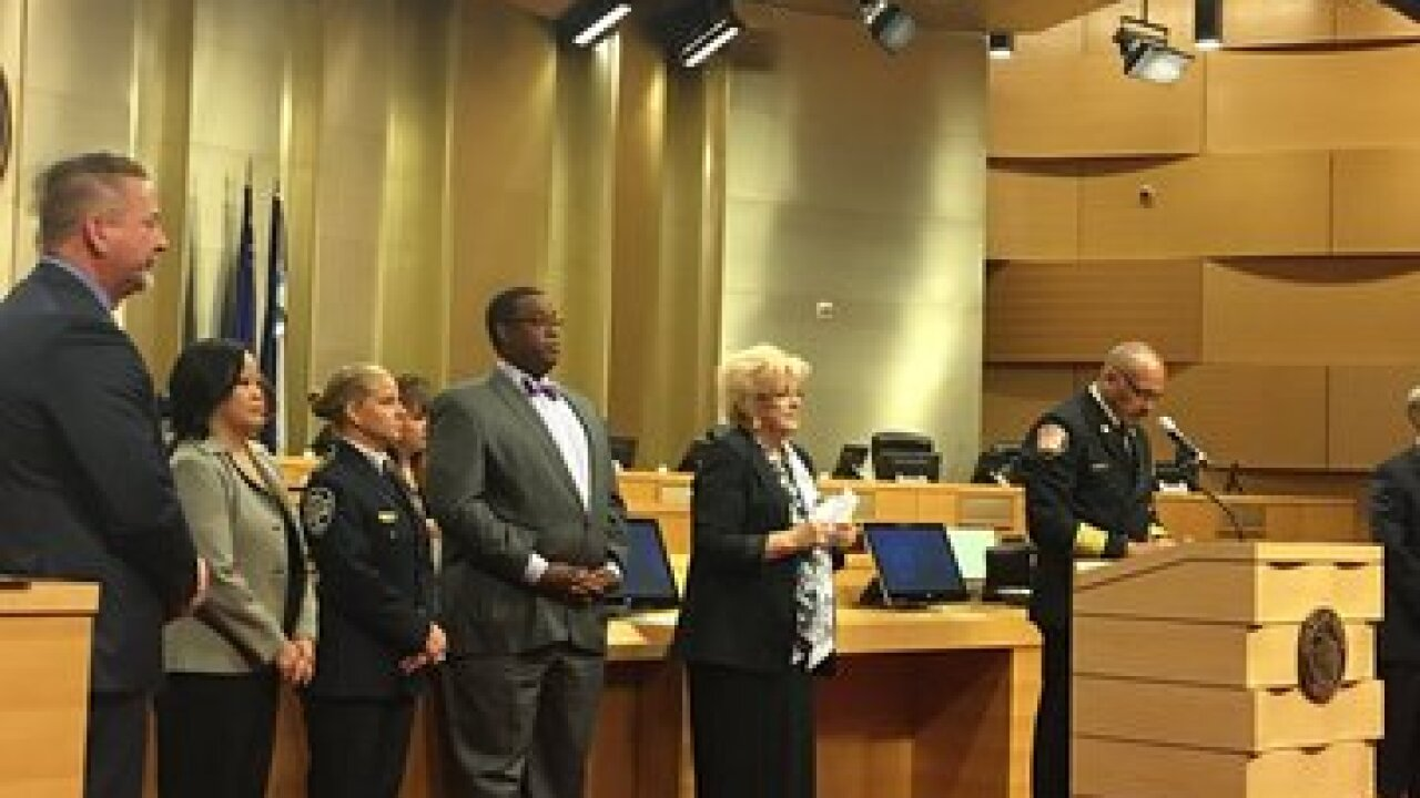 Public safety personnel recognized at city hall