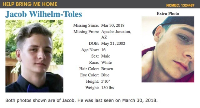 Missing children in Arizona: 179 open cases