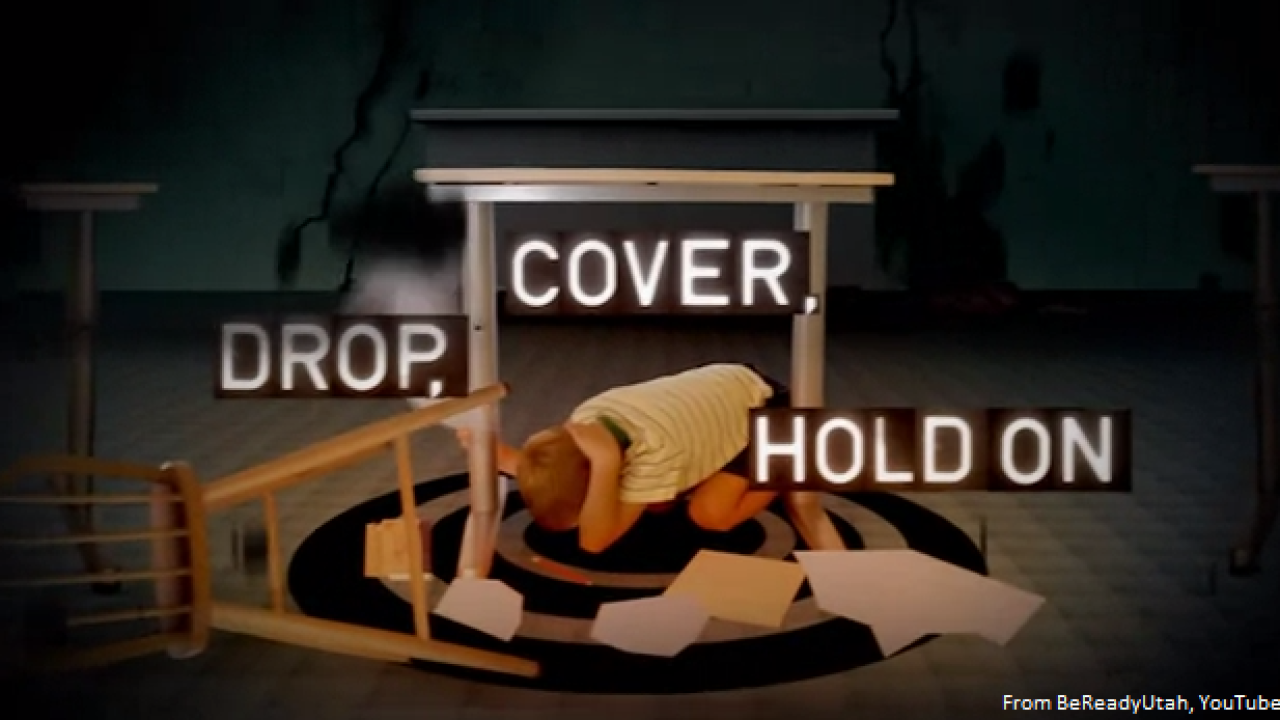 Utahns asked to drop, cover and hold on for 'Great Utah Shakeout'