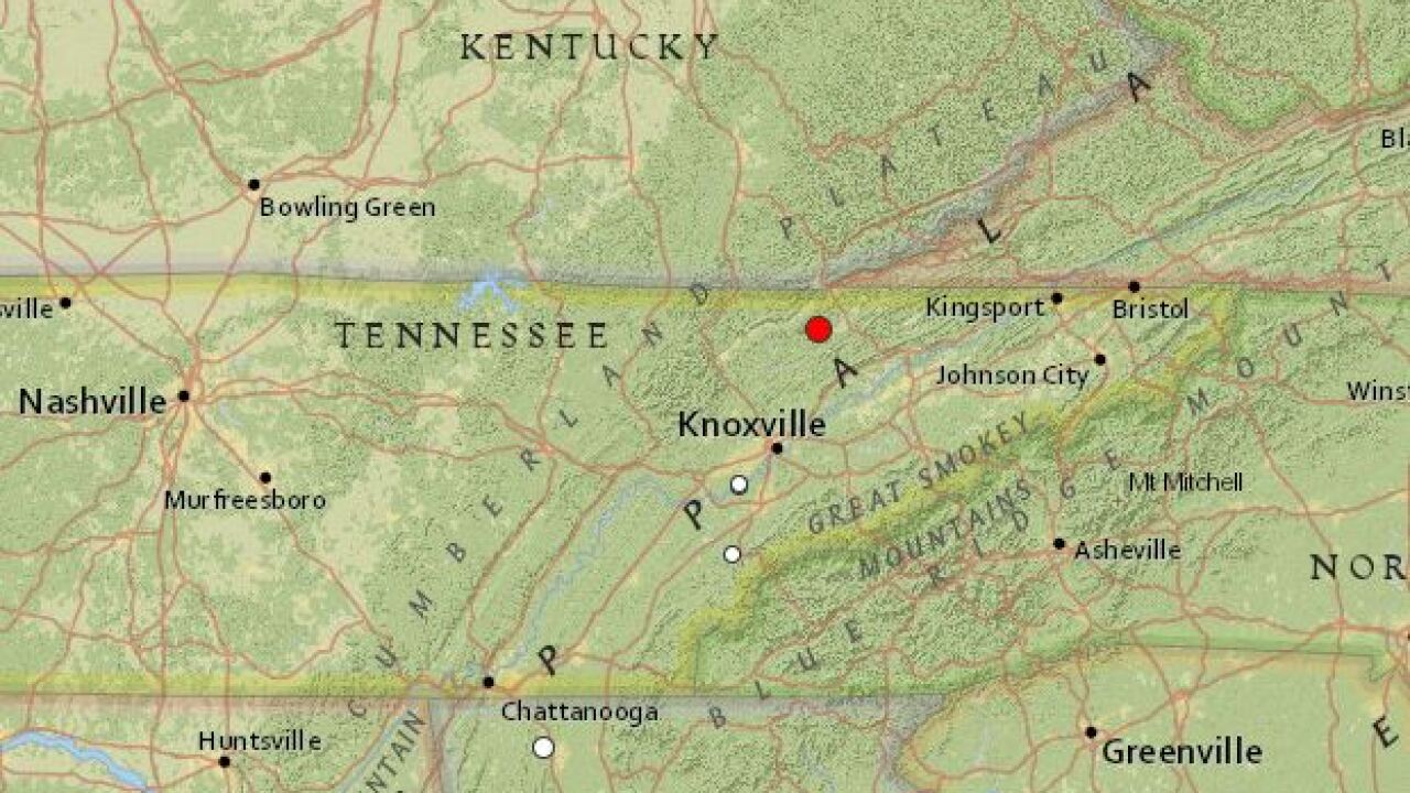 3.0-magnitude earthquake recorded near Tennessee-Kentucky border