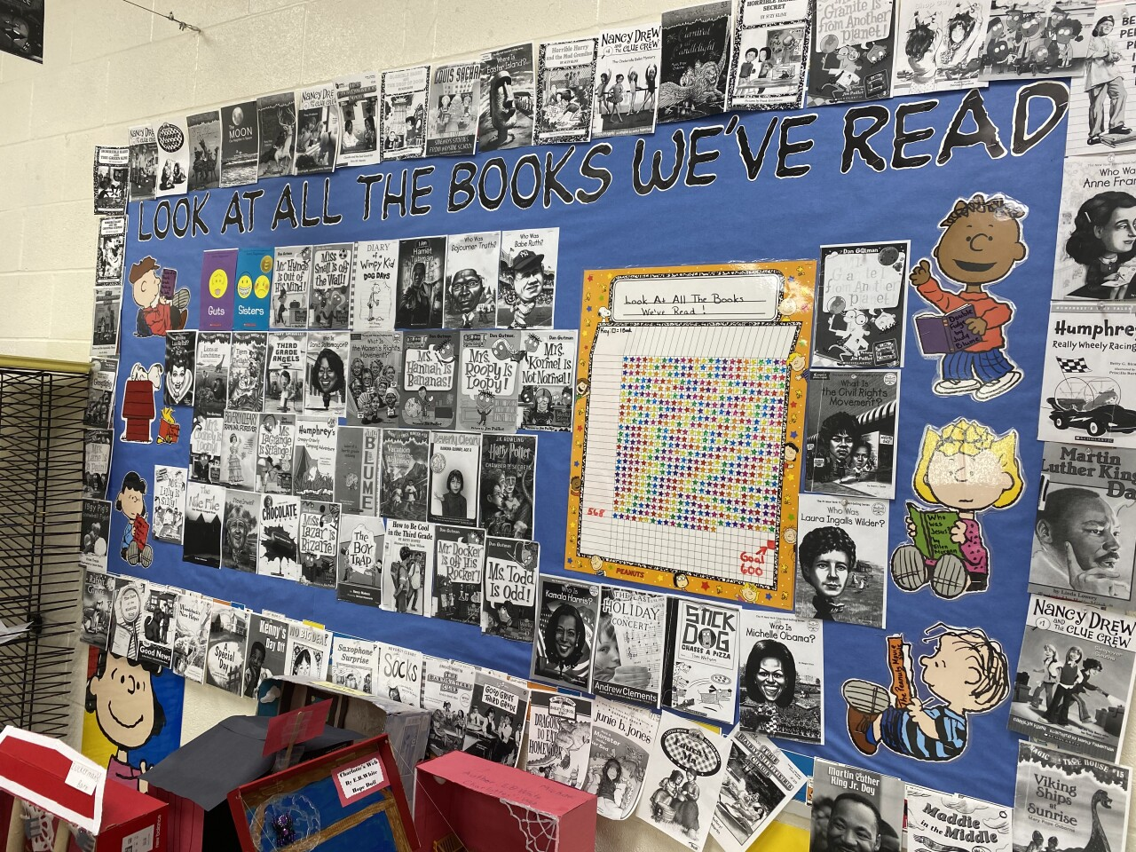 The reading challenge started as a bulletin board and kept growing