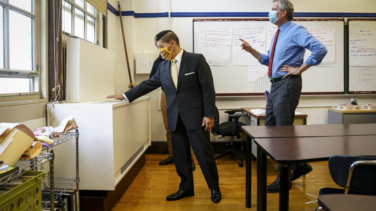 Virus Outbreak New York Schools Reopening