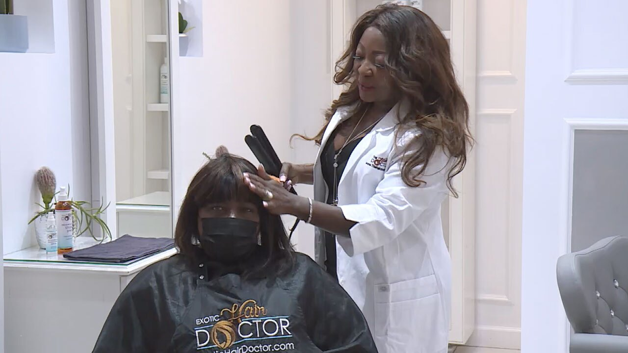 Evelyn Metellus, owner of the The Hair Doctor in Wellington