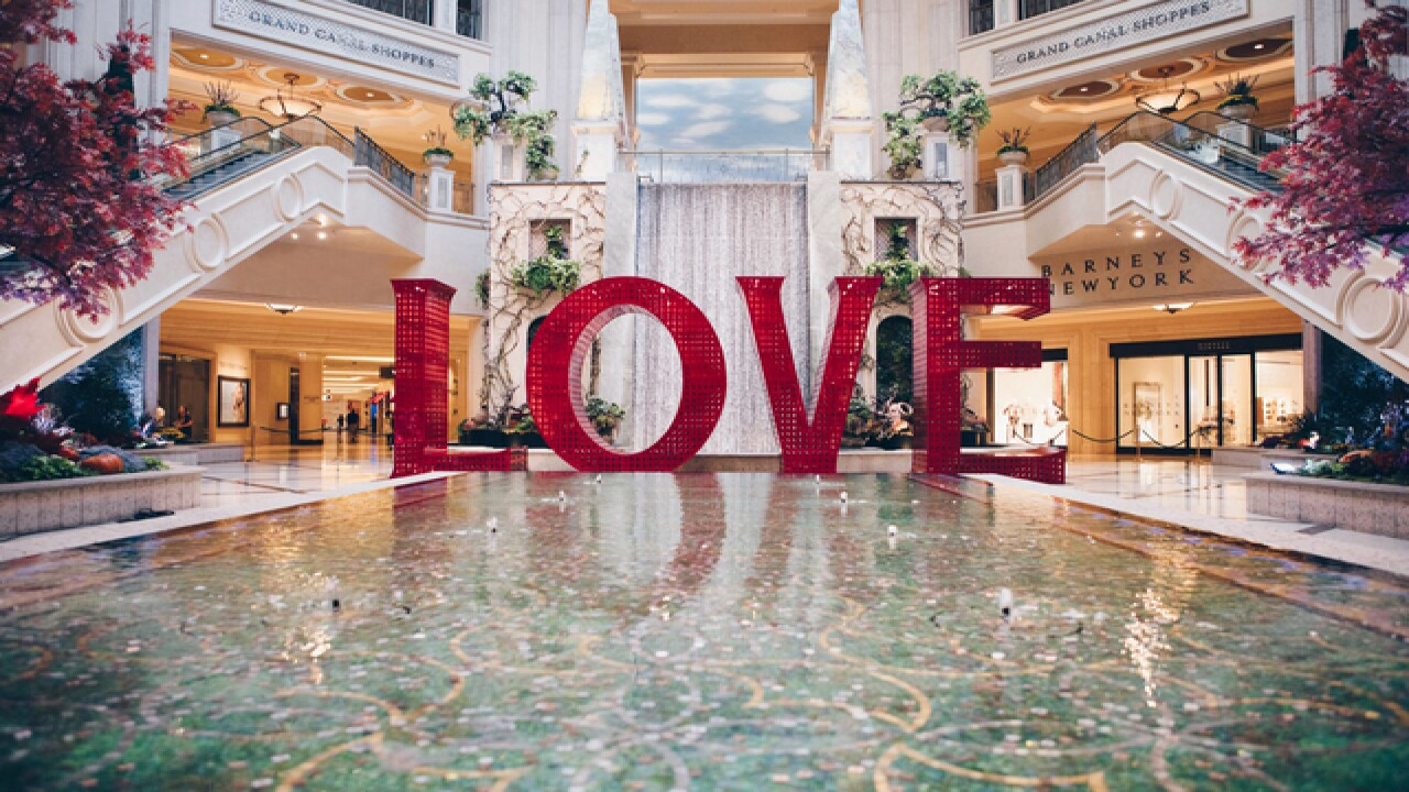 LOVE on display at The Venetian