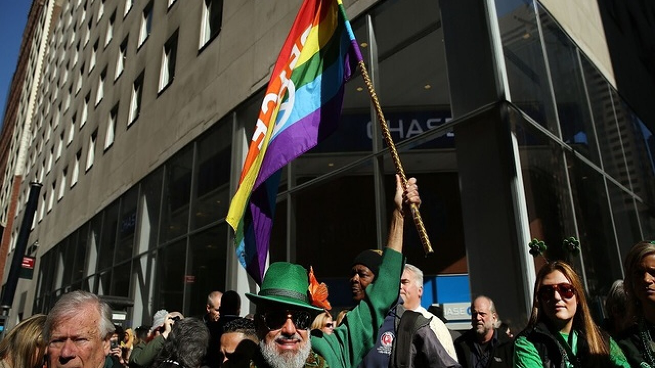 Gay groups walk in historic St. Patty's parade