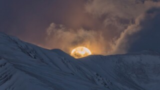 Super Worm Moon over Mt. Elbert