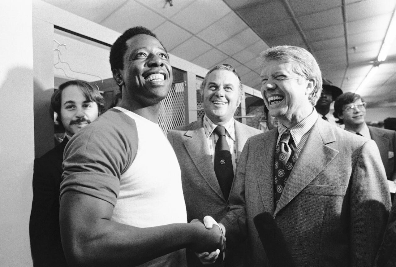 Hank Aaron, Jimmy Carter, Sherman Tribbitt