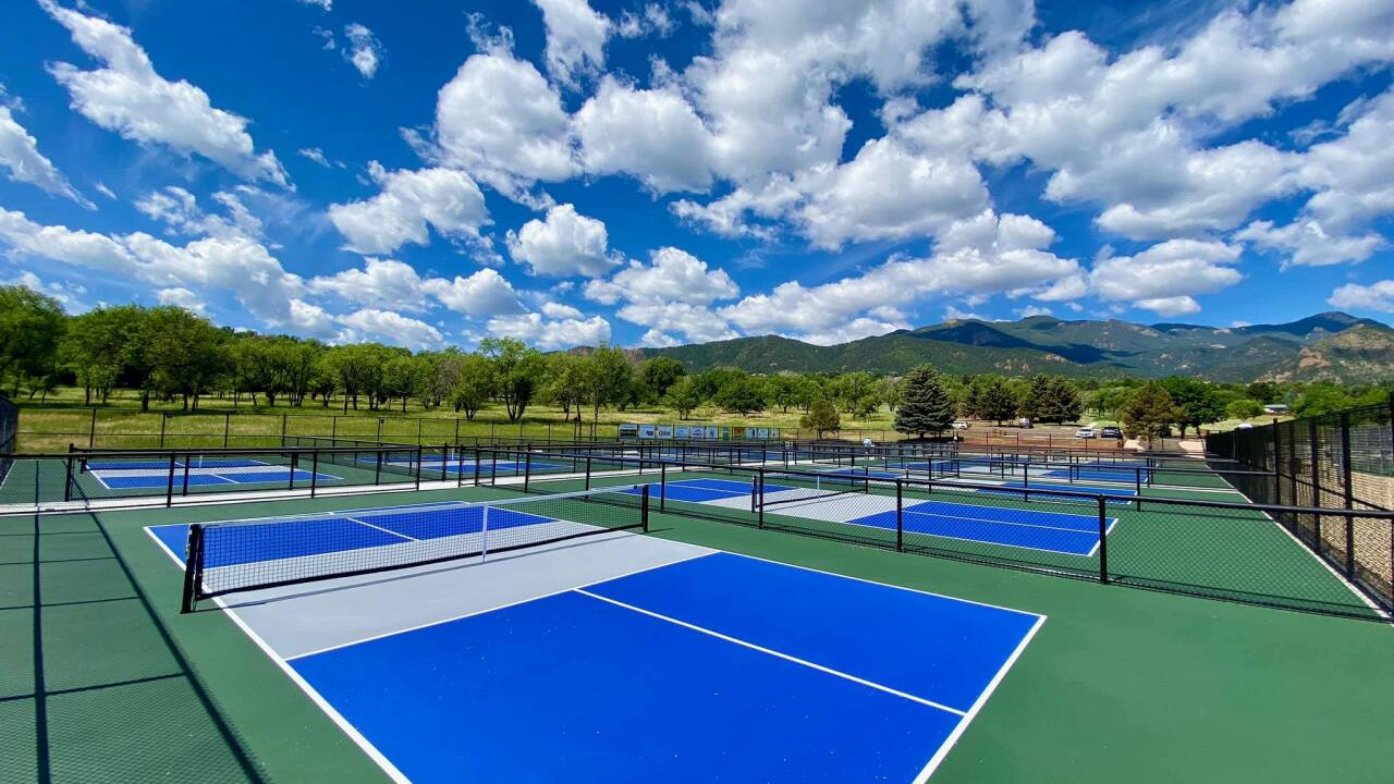 Twelve new pickleball courts are now open to the public at Bear Creek Park
