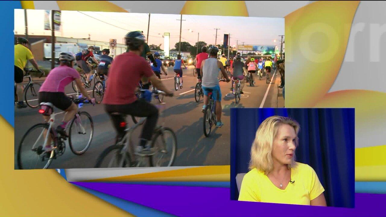 Twilight biking party inRVA