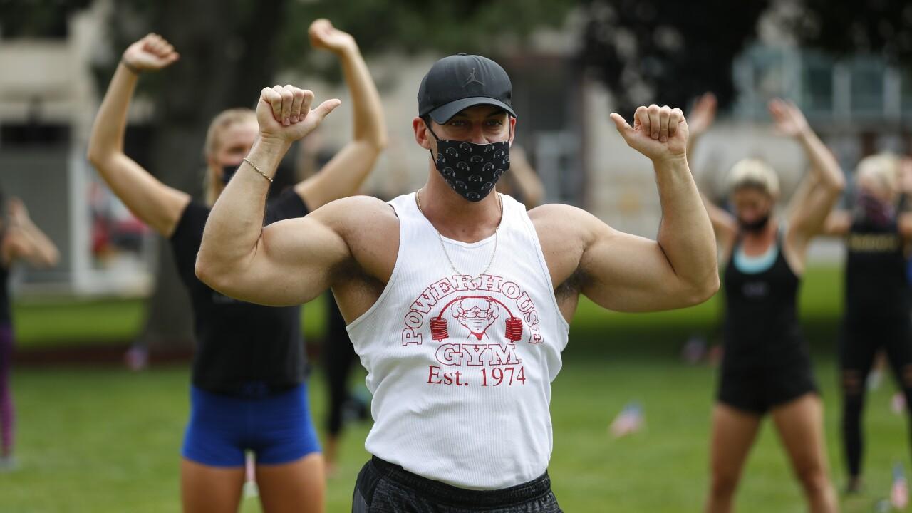 Virus Outbreak Fitness Rally Michigan
