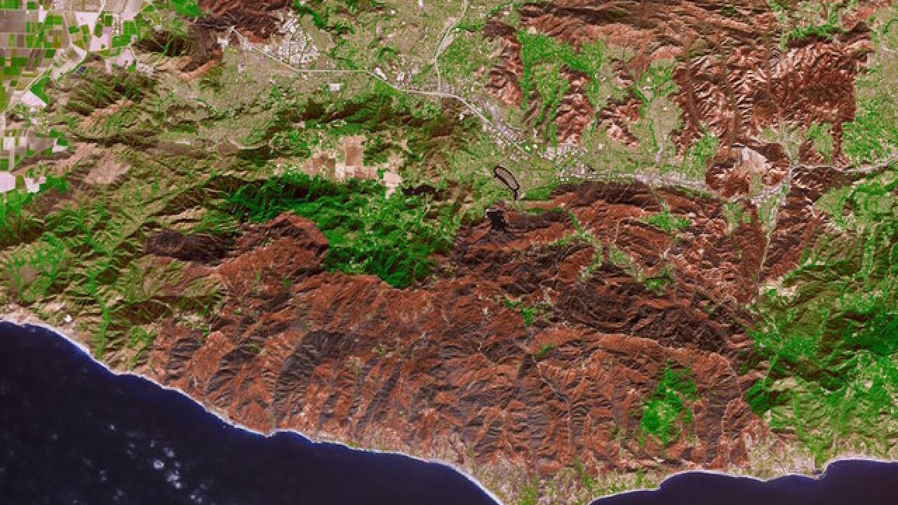 Woolsey Fire in California 100 percent contained; burn marks visible from space