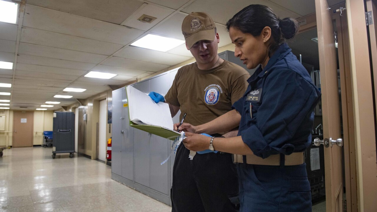 USNS Comfort Galley Accomodates Patient Dietary Requirements in New York City