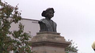 Columbus statue in Pueblo