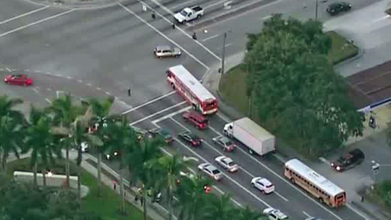 Vehicle strikes bicyclist in suburban West Palm Beach