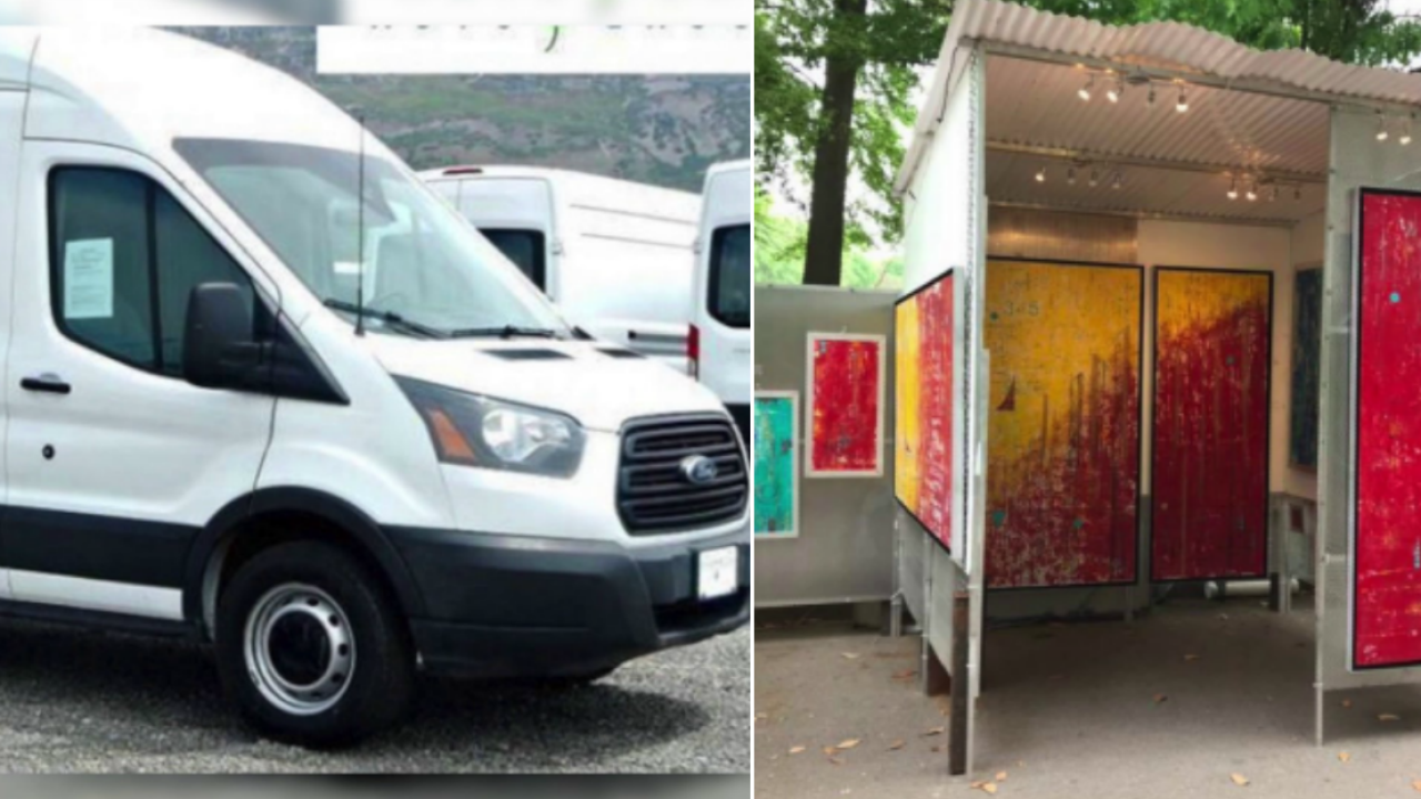 Van stolen with $80,000 worth of art, equipment: 'All of our livelihood is inthere'