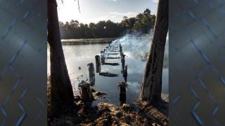 Docks at Suwannee Lake completely burned, deputies investigating