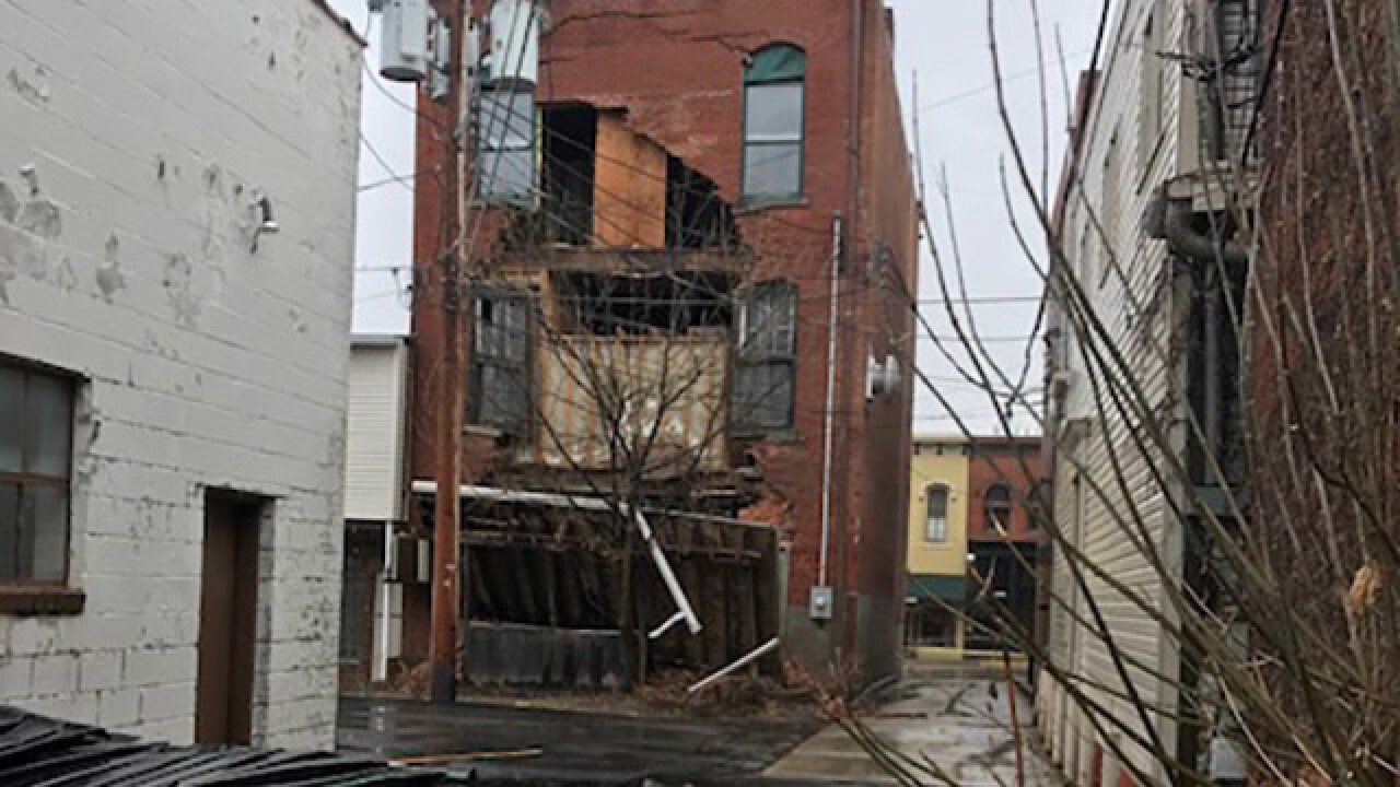 medina square businesses closed after historic building partially collapses medina square businesses closed after