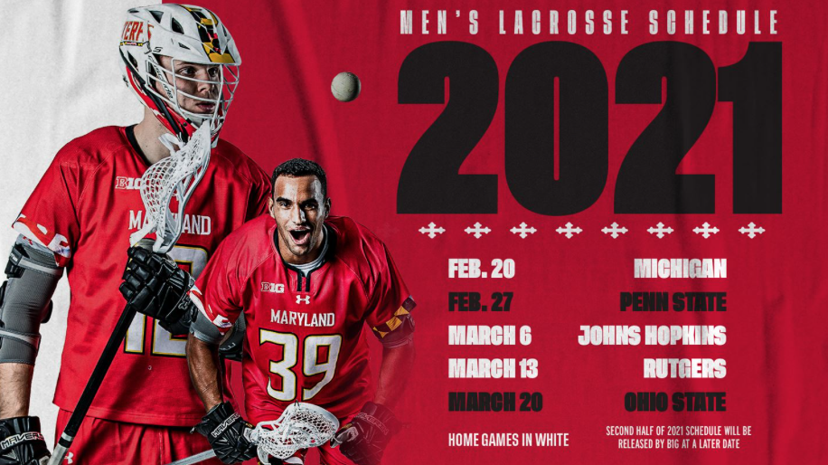 University of Maryland Men's Lacrosse 2021 Schedule (First Half)