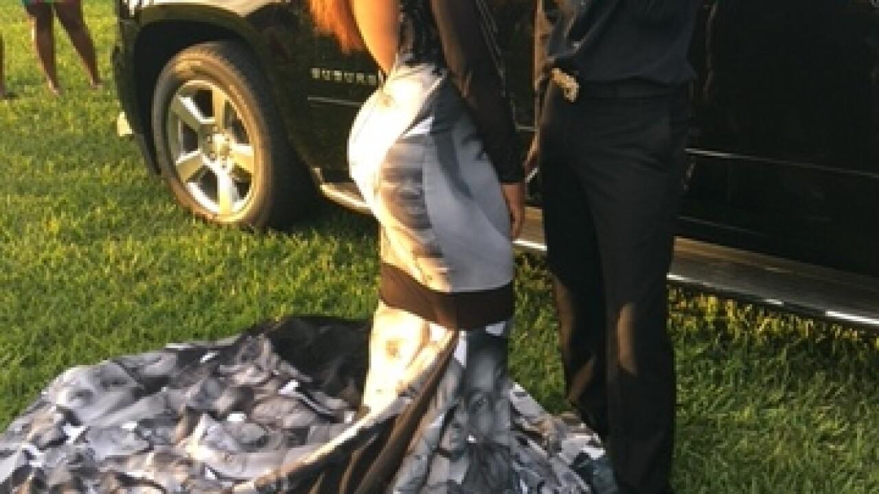 9da67ada928 Belle Glade teen wears Black Lives Matter prom dress