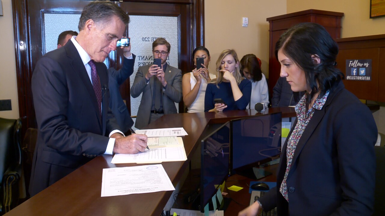 Romney makes Senate run official, with a surprisetwist