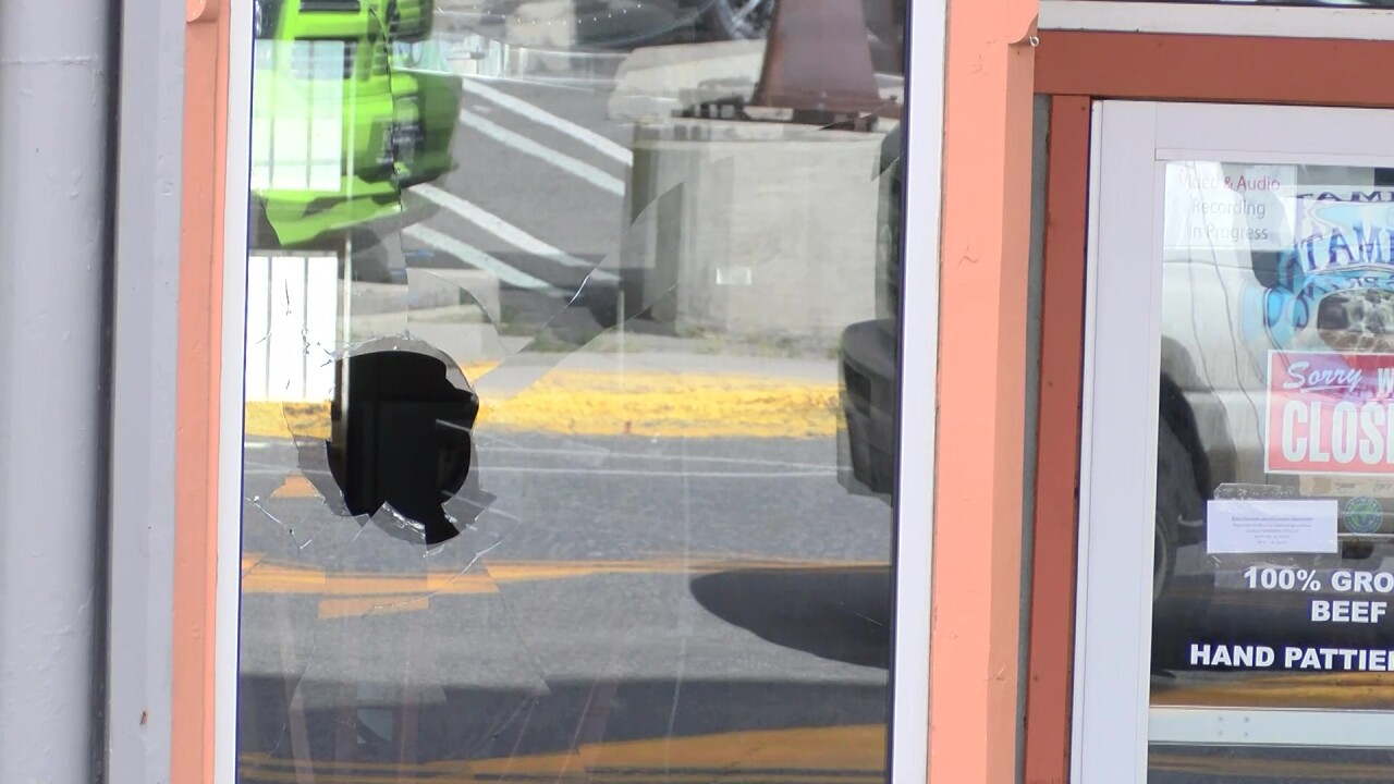Police say Strumpfer broke three storefront windows on Park Street using rocks and broken concrete