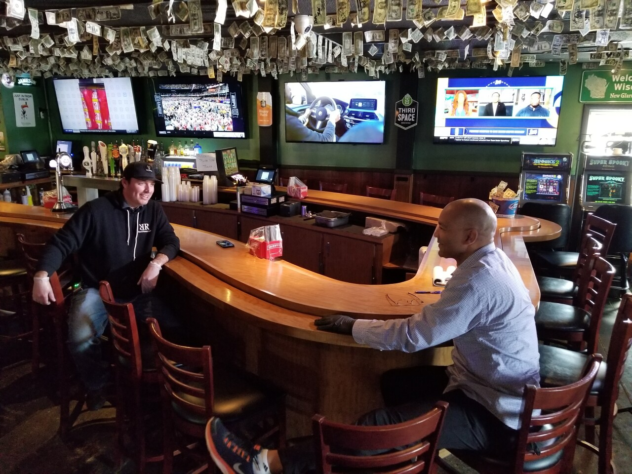 TMJ4 Sports Reporter Rod Burk sits down with A.J. O'Brady's owner to talk about what it has been like operating since the pandemic began.
