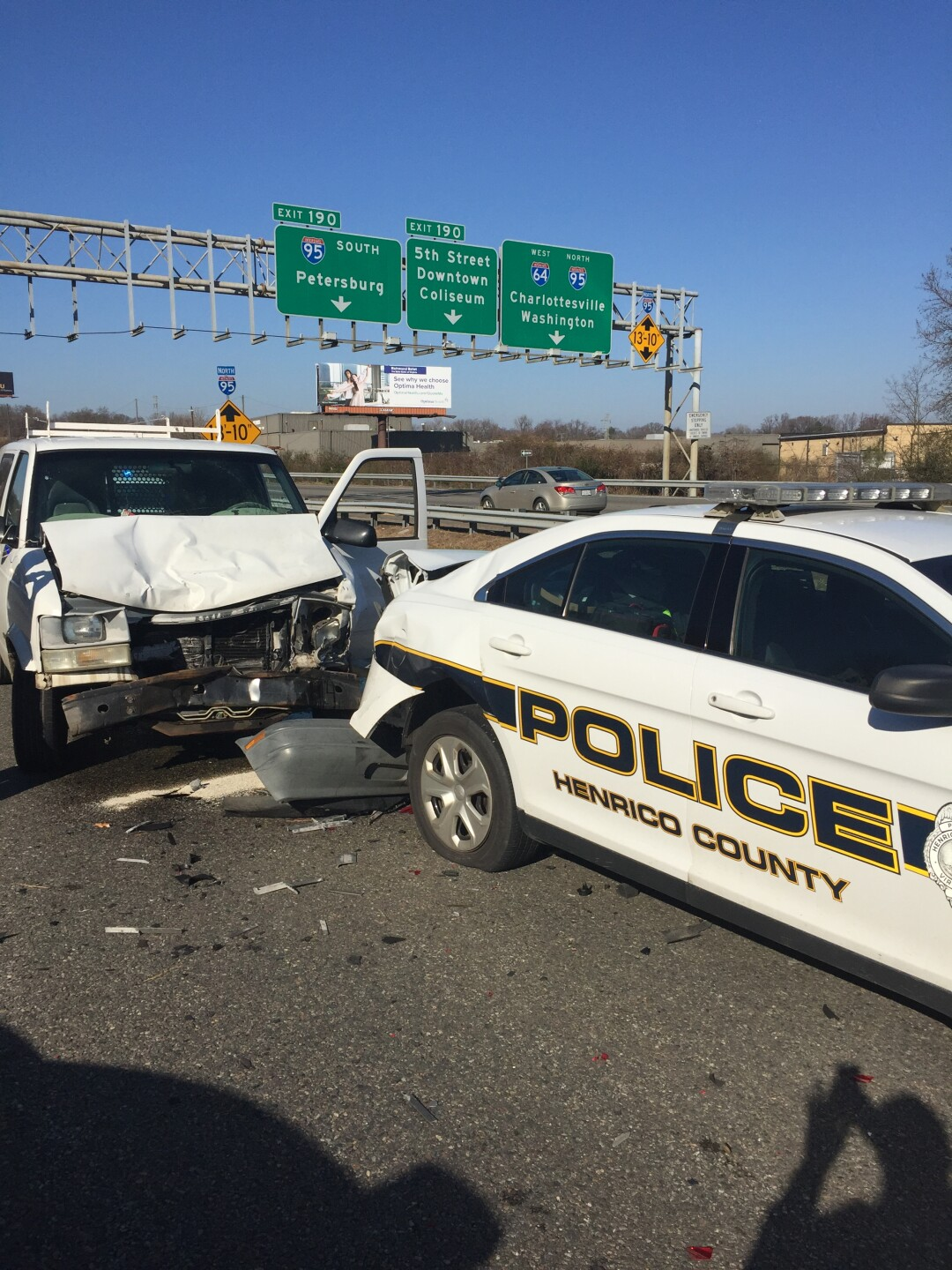 Photos: Driver charged with rear-ending Henrico police car: 'Please move over. It's thelaw'