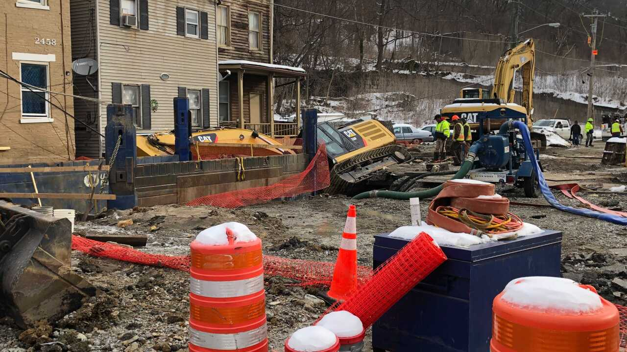 Second East End water main break and sinkhole