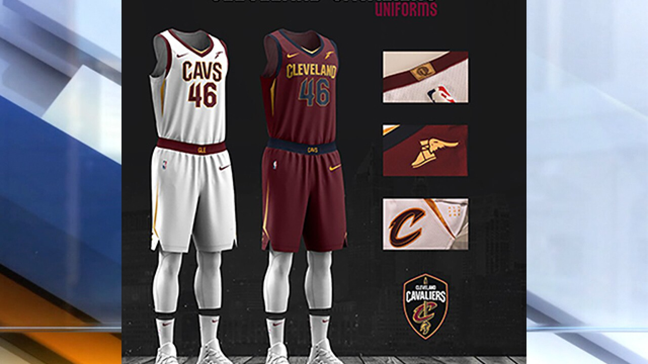 3ba0c33b57e Cleveland Cavaliers unveil new uniforms for the 2017-2018 season