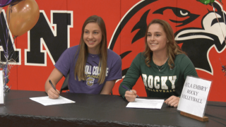 Bozeman's Mara Lynch, Ayla Embry sign to play Frontier Conference volleyball