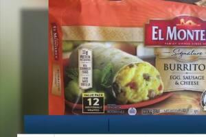 55K pounds of frozen El Monterey breakfast burritos recalled due to plastic pieces