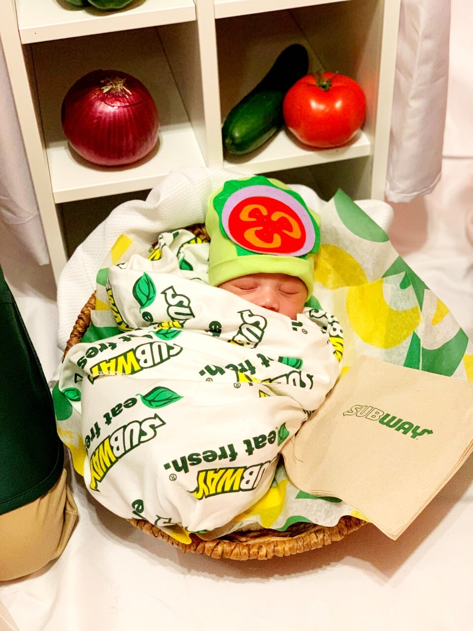 Baby Shannon as a Subway sandwich