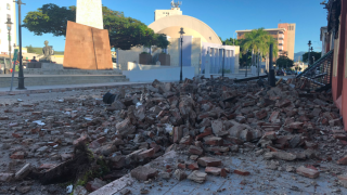 Damage from earthquake in Puerto Rico