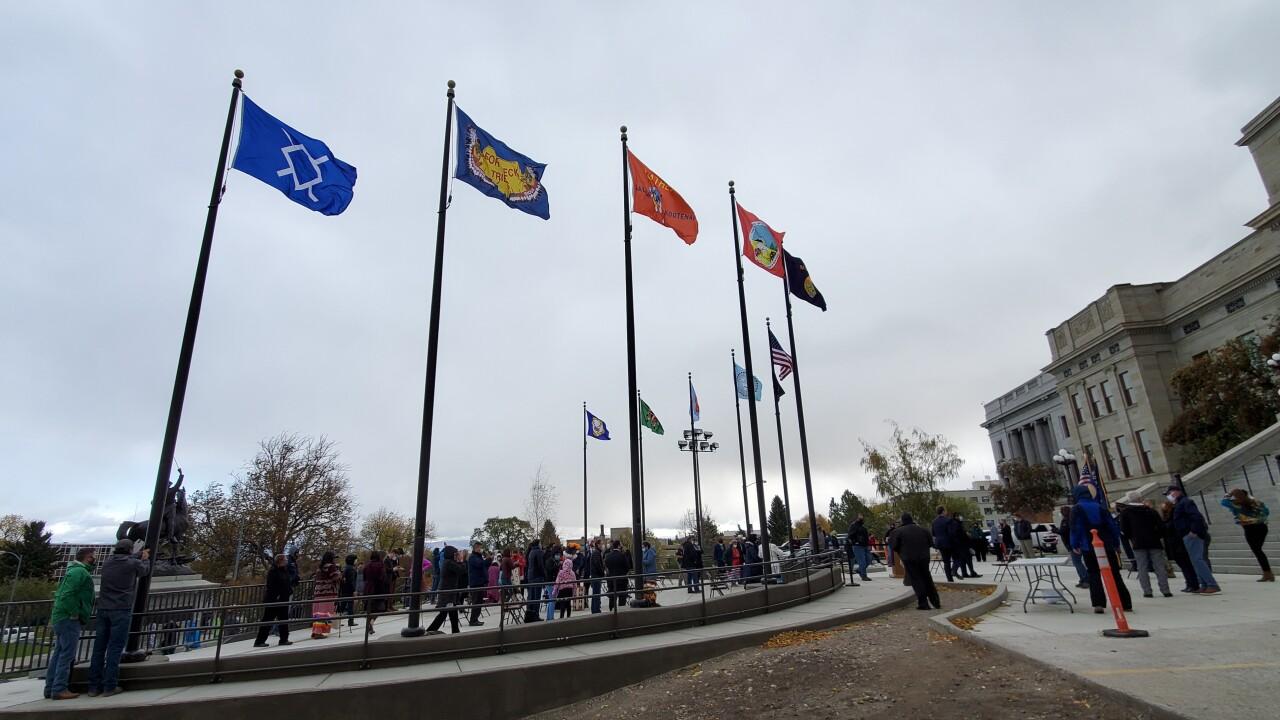 MT Tribal Nations meet for a permanent flag raising