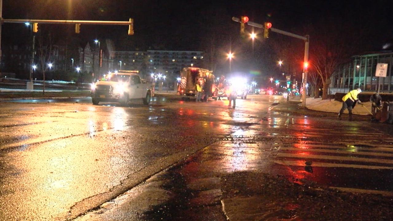 Traffic Alert: Lane restrictions in place due to water main break in Buffalo