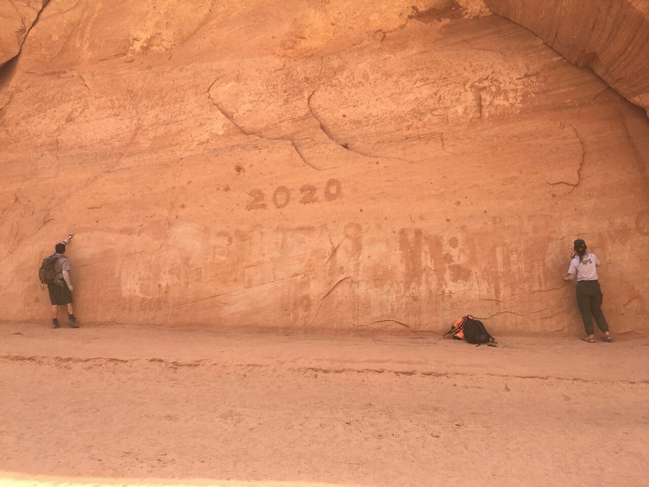 Antelope Canyon graffiti