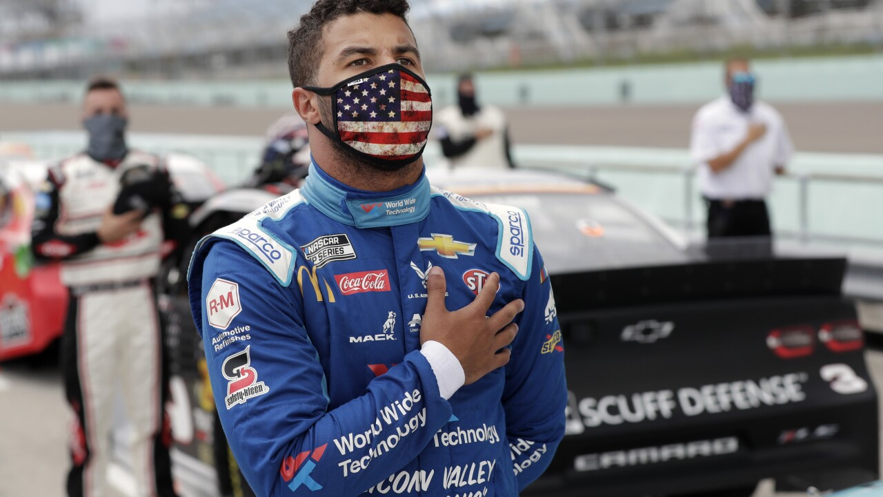 Bubba Wallace: 'We won't see cops pepper-spraying' Confederate flag supporters