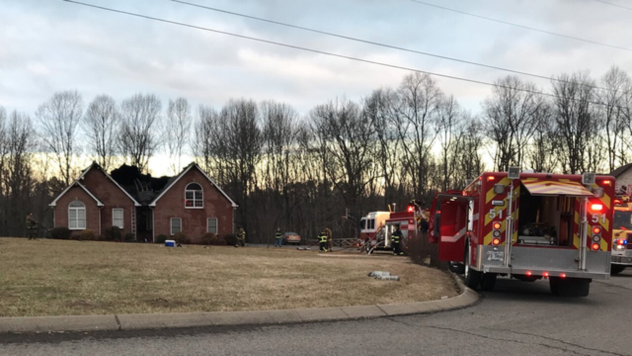 Greenbrier Home Seriously Damaged In Fire