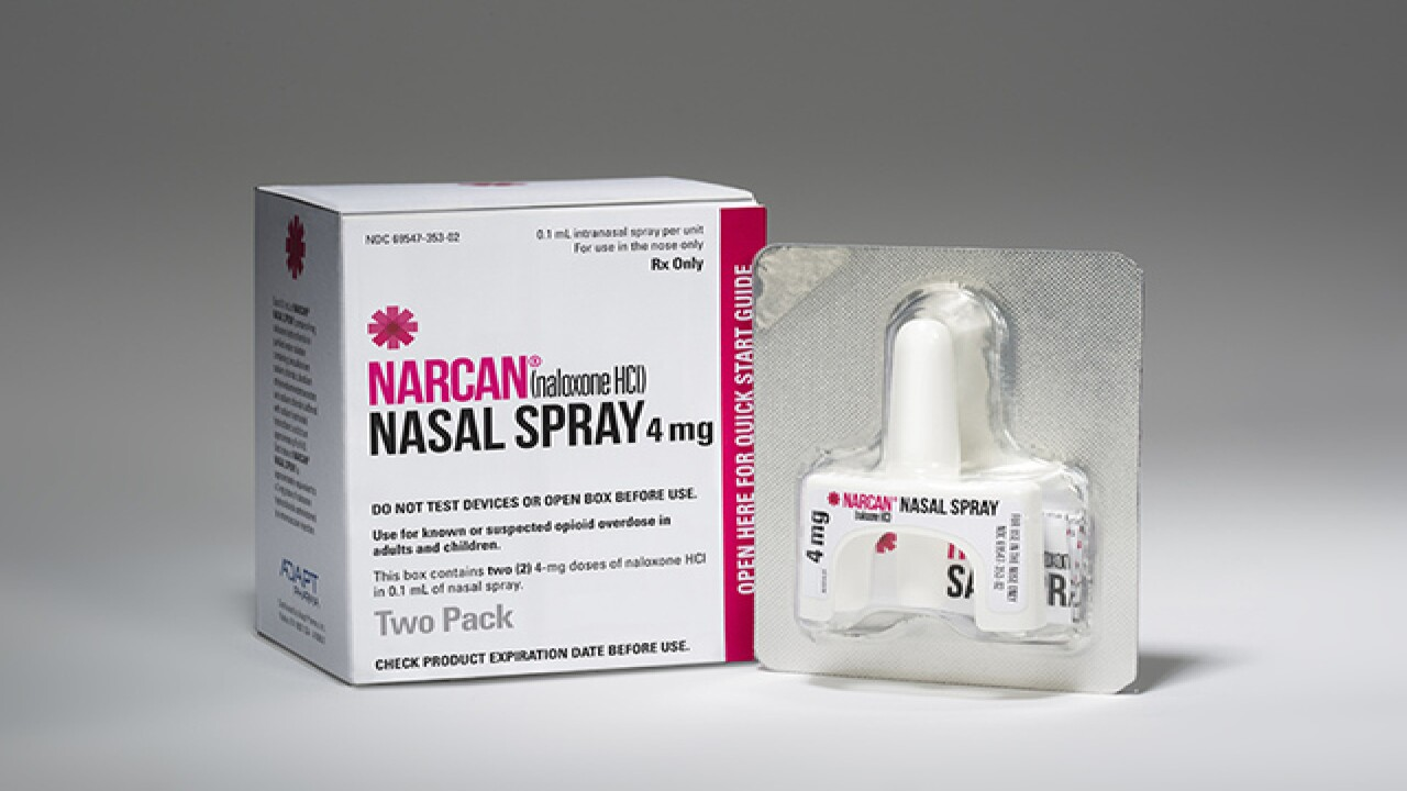 State reaches price deal with makers of naloxone