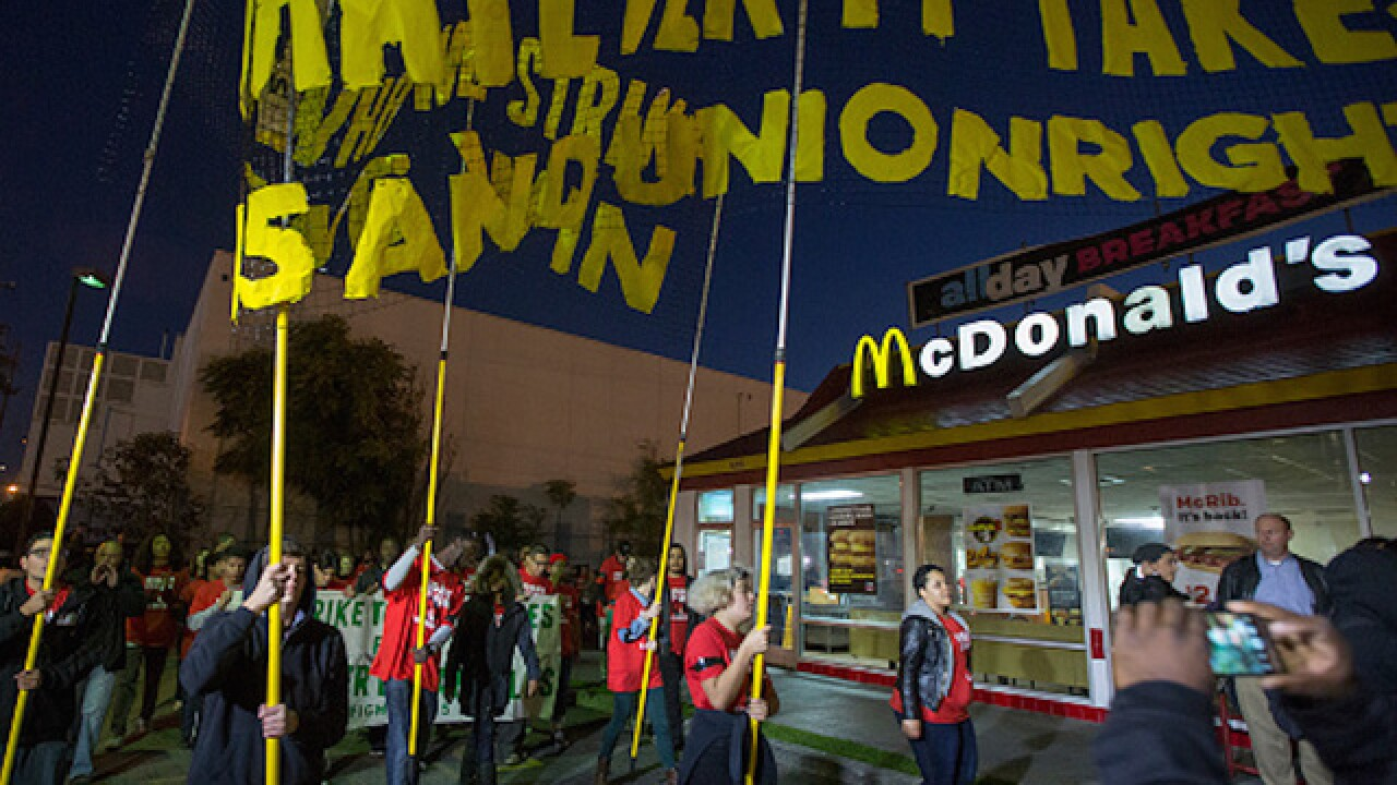 Day of Disruption: Workers across country protest for $15 minimum wage