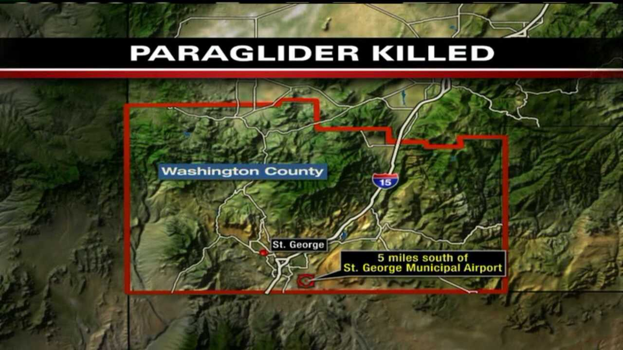 Paraglider dies in accident near St. George