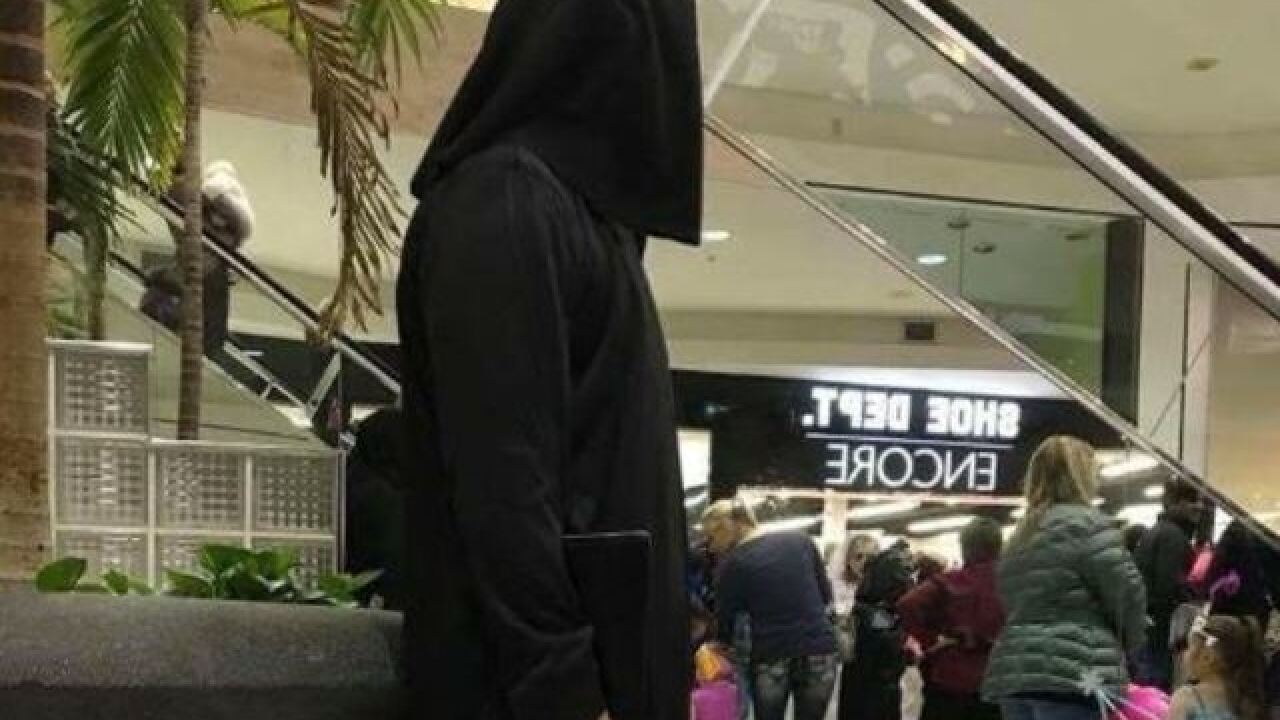 Shooter costume at mall kids event stirs outrage